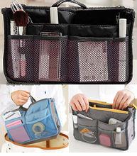 2015 New Ladies Small Bag women s handbags Organizer Multi Functional Insert Purse Large Makeup Storage