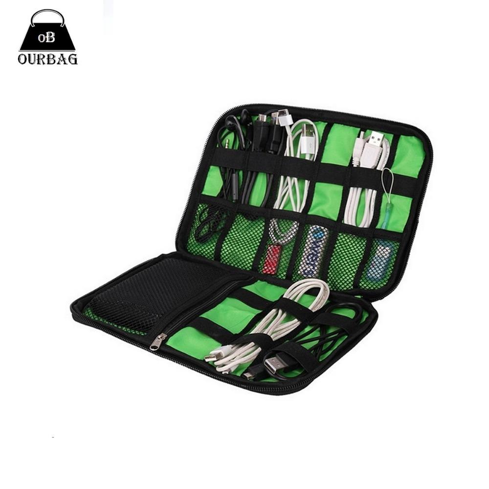 Гаджет  Organizer System Kit Case Storage Bag Digital Gadget Devices USB Cable Earphone Pen Travel Insert Hight Quality Portable None Дом и Сад