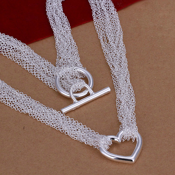 2014 Christmas Gift!Hot Wholesale New Fashion 925 Sterling Solid Silver Necklace LN023 Fit For Women&Men(China (Mainland))