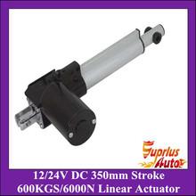 Buy 12/24Volt DC 14inch/350mm stroke 5mm/s linear actuator, 6000N/600kgs load heavy duty linear actuator for $35.00 in AliExpress store