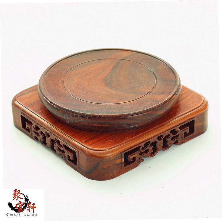 Wood figure of Buddha carved mahogany wood household act the role ofing is tasted furnishing articles base ebony wood crafts(China (Mainland))