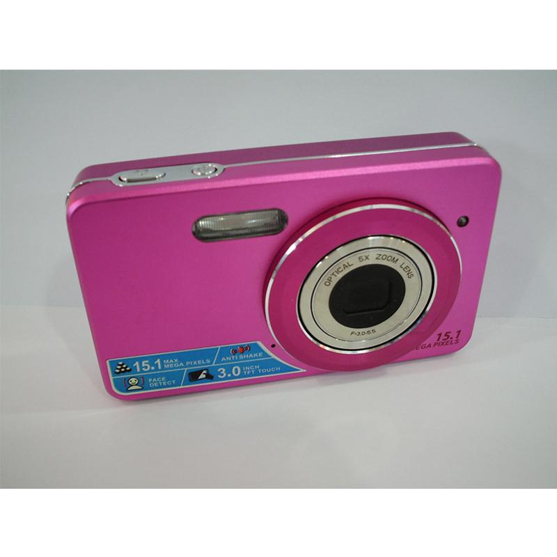 2016 New 3' Touch Screen 15.1MP Digital Camera 5X Optics Zoom 4X Digital Zoom Face Detection Mini Camaras Fotograficas Digitales(China (Mainland))