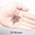 1000 шт./упак. кремния выстроились Micro Ссылки Кольца Бусы Волос Перо Расширения 5 # Коричневый. 9 Цветов Дополнительно