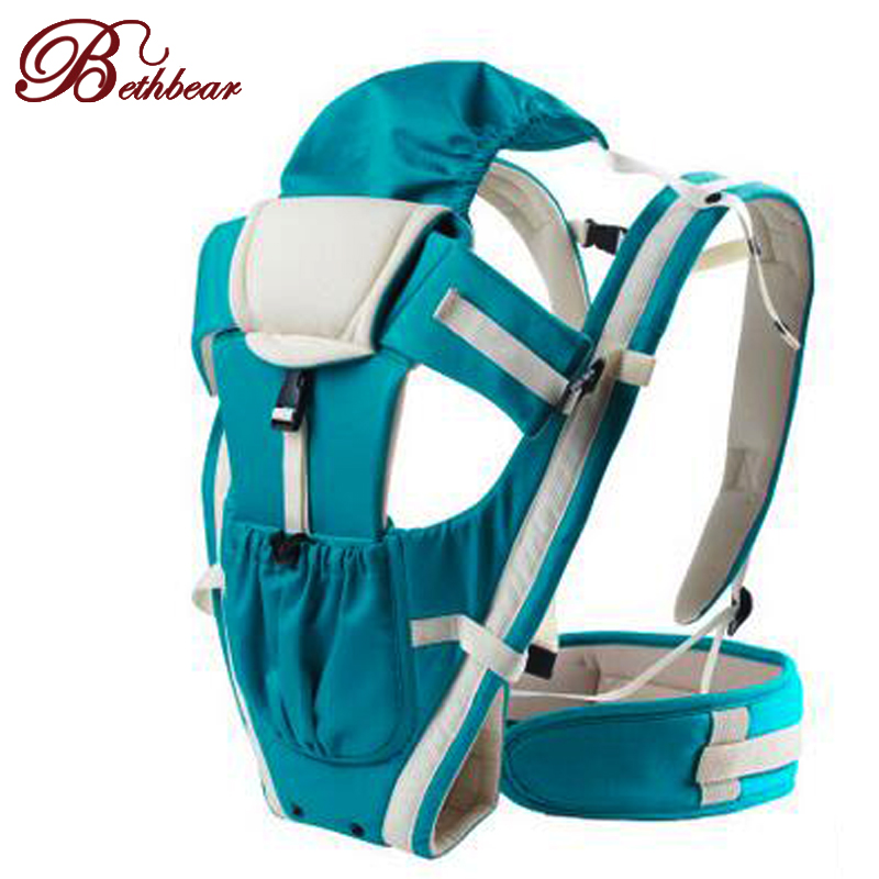 2015 Updated 2-30 Months Breathable Front Facing Baby Carrier with Hat Waist belt Infant Sling Backpack Pouch Wrap Baby Kangaroo<br><br>Aliexpress