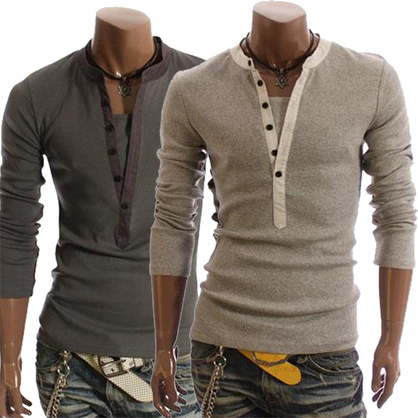 New Men Casual T shirt 2015 Spring New Fashion Simple Long Sleeve Tshirt Men T-shirt Camisetas Masculinas(China (Mainland))