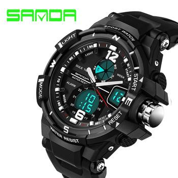 SANDA Sport Watch Men Fashion 2017 Clock Male Men's Top Brand Luxury Military Watches Digital & Quartz-Watch relogio masculino