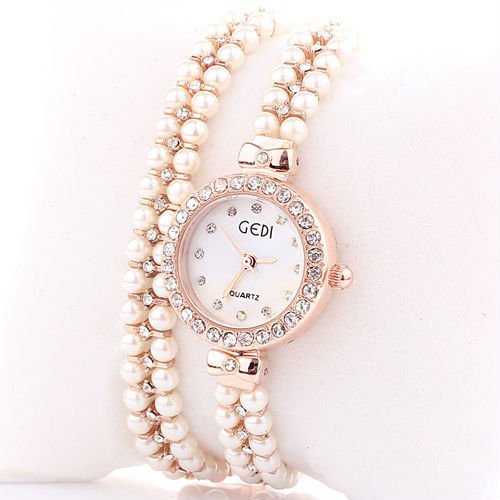 Watch With Pearl Bracelet Band Watches Pearl Band Quartz