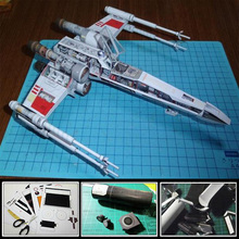 3D Paper Model Star Wars X WING X Fighter Airplane DIY Handmade Toy(China (Mainland))