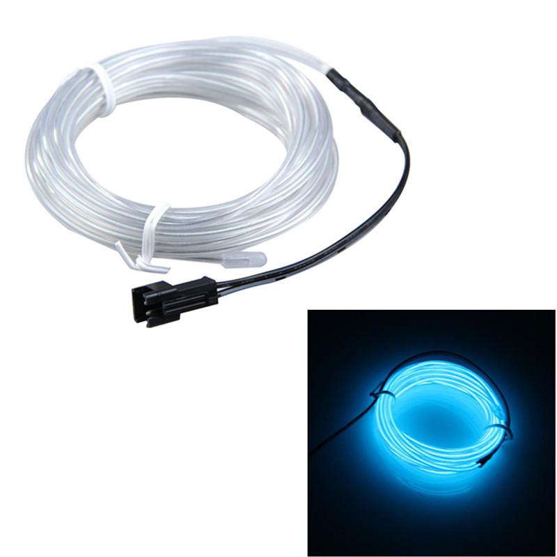 Купить Свет и освещение  Free Shipping Hot Sale 3m Flexible Transparent Blue Neon Light Car Party Glow EL Wire Strip Tube ASAF None