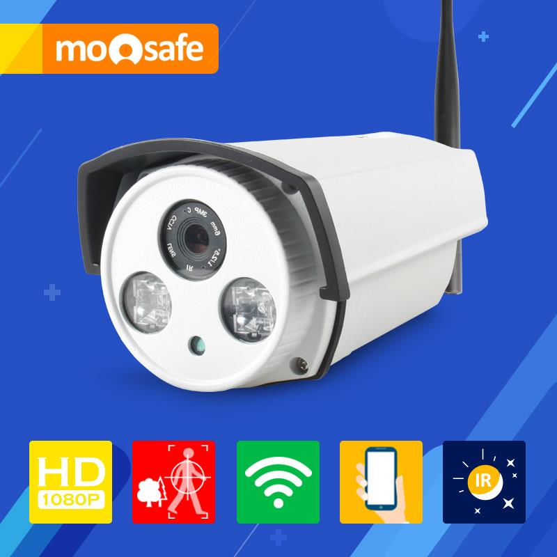 Mosafe 2.0MP WIFI Camera 2 pcs Array Leds IR night vision Onvif motion detection recording remoter control Surveillance Cameras(China (Mainland))