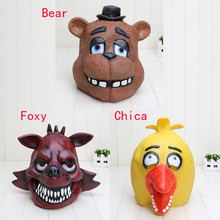 30pcs Five Nights At Freddy's FNAF Bear Foxy Chica halloween cosplay Full Latex Mask Model Toy(China (Mainland))