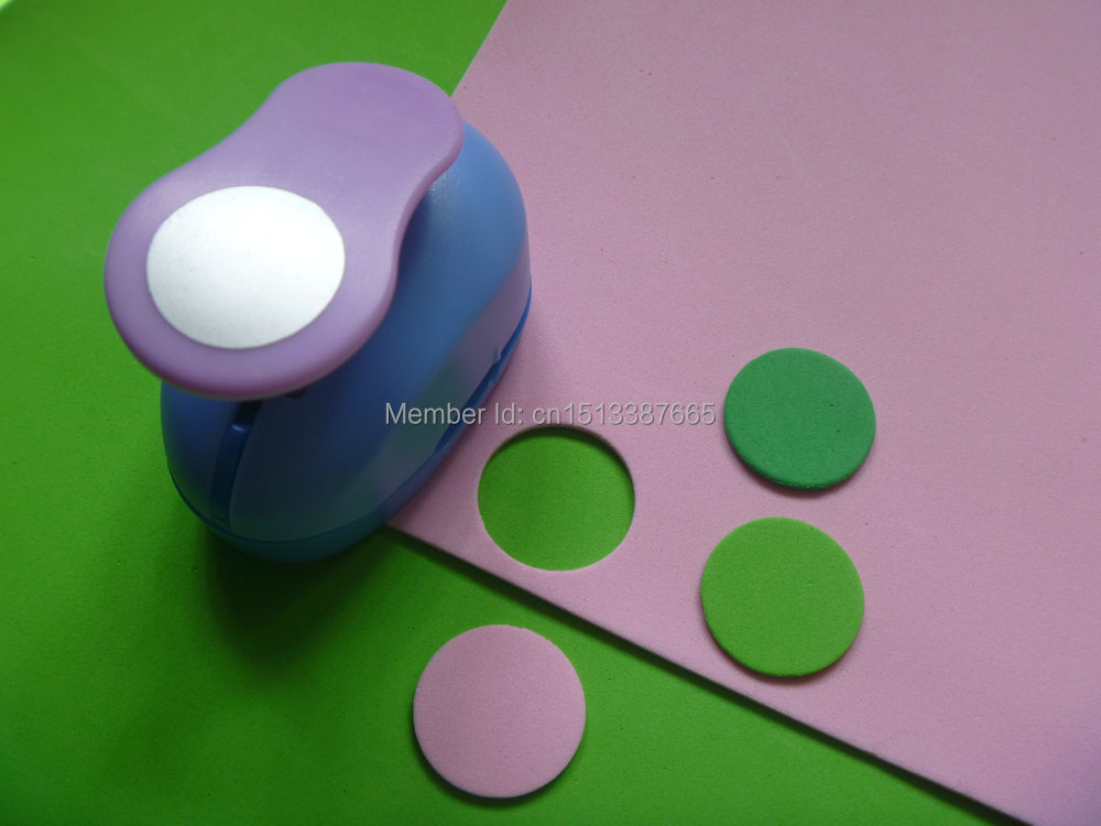 2018 Wholesale 1 Inch 25cm Circle Design Craft Punch Eva Foam Punch