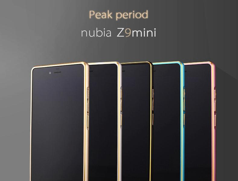 New Fashion for nubia Z9 mini Aluminum Case Excellent Metal Frame 0.7mm Silm Bumper for ZTE nubia Z9 mini free shipping(China (Mainland))