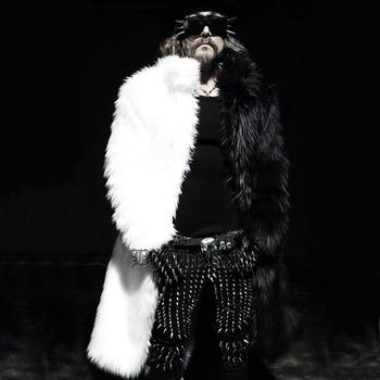 Men long faux fur coats Splice winter Fox fur Fashion thickening lapel Multi-size jackets Schwarzen Pelzmantel Free shipping