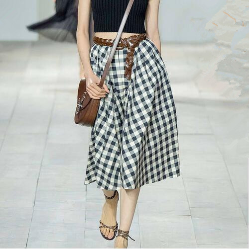 Womens Black and White Plaid Skirt Promotion-Shop for Promotional ...
