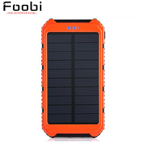Solar Charger Portable Solar Power Bank 10000mAh Dual USB Battery Charger External Backup Power Pack for Cellphone iPad Camera(China (Mainland))
