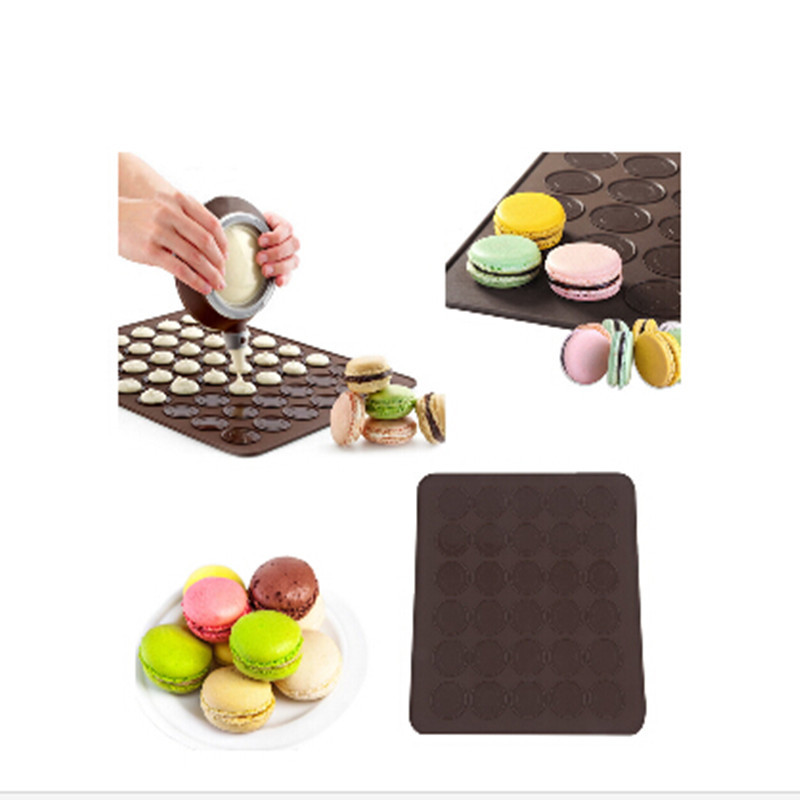 Caking Decoration Tool chocolate mold macaron special baking mat Silicone mat for cake candy chcolate DIY(China (Mainland))