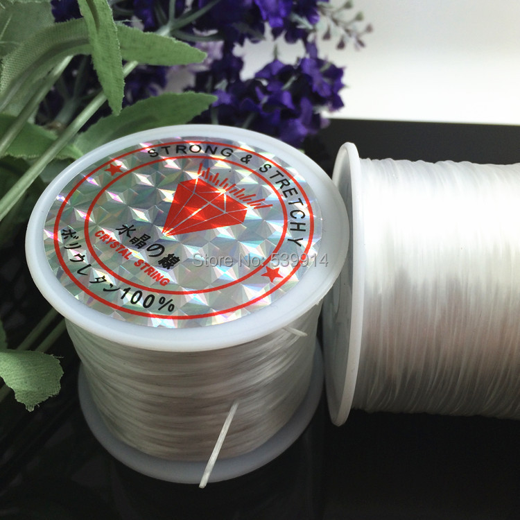 White Elastic Beading String 60metres/roll of Strong And Stretchy,Elastic Jewelry Cord For DIY Jewelry Craft Bracelet Making(China (Mainland))