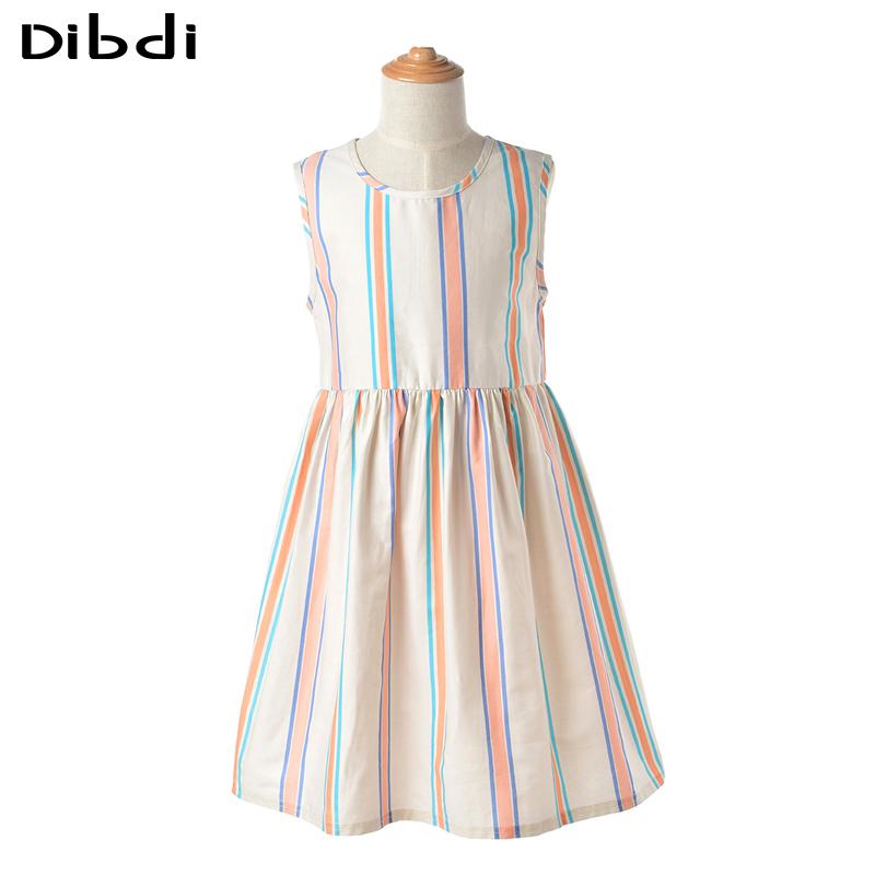 Hot New Girls Cotton Dress Children Girl Clothing Sleeveless Striped Kids Dresses For Teeenager Girls Kids Costumes Summer CA362(China (Mainland))