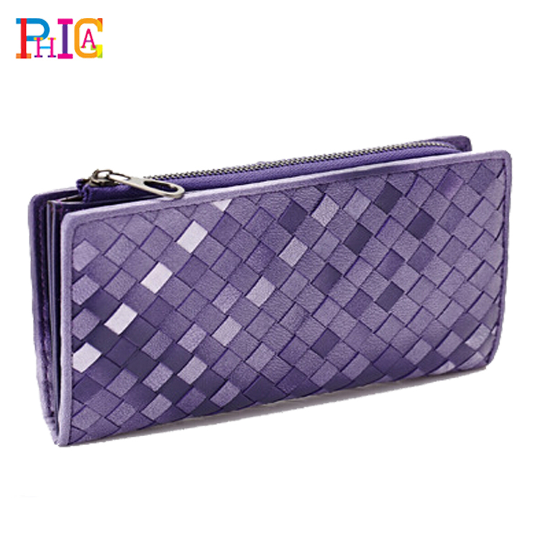 Genuine Leather Women's Long Design Wallets Fashion Classic Brand Sheepskin Gradient Purse Female Wallet - Phica store