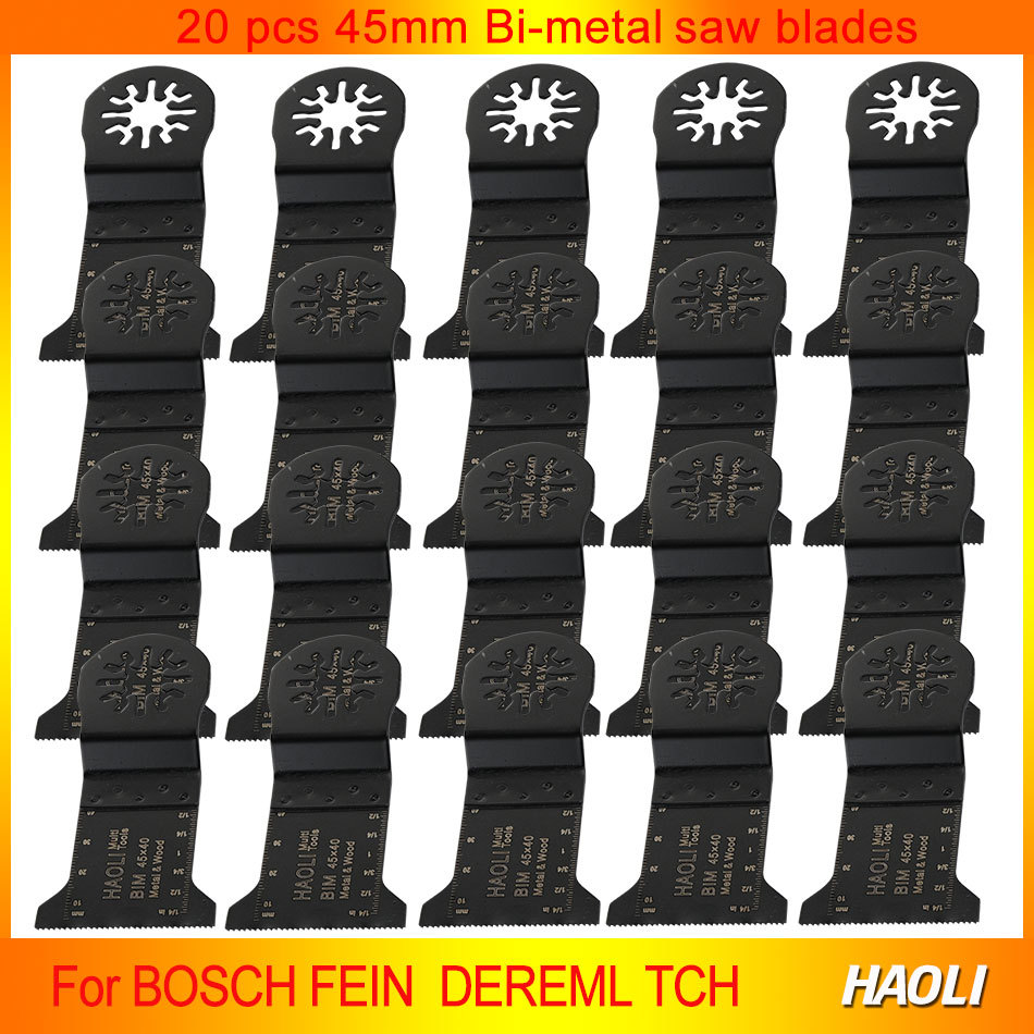 20Pcs 45mm B-metal oscillating Tool Saw Blades accessories for Multimaster power tool as Fein,TCH,Dremel etc,best for cutting