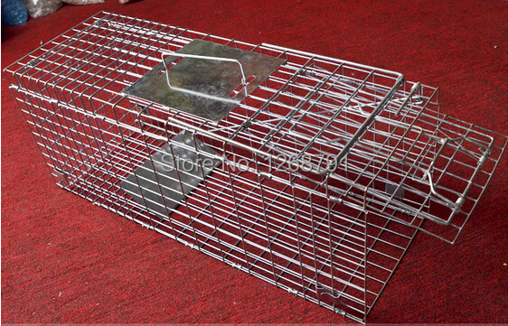 Large cat cage trap catch weasel cat catching the dog cage trap cage cat catchers folding(China (Mainland))