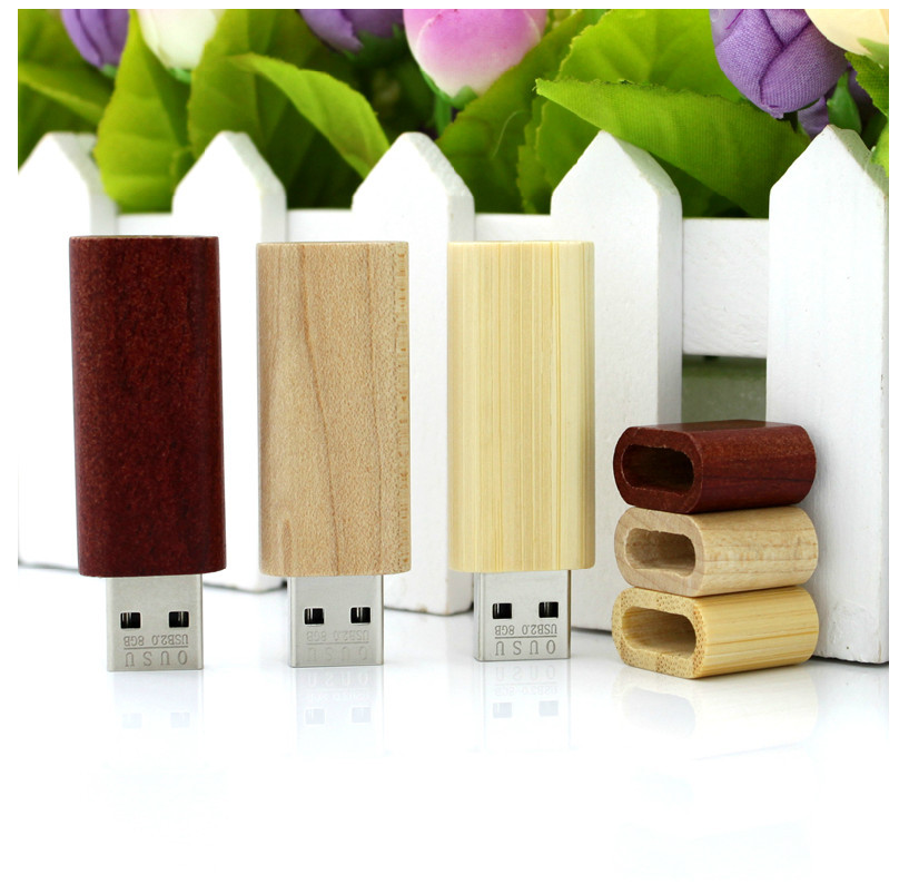 Promotion Wooden bamboo USB flash drive pen driver wood chips pendrive 4GB 8GB 16GB 32GB memory stick U disk mini novetly Gift(China (Mainland))