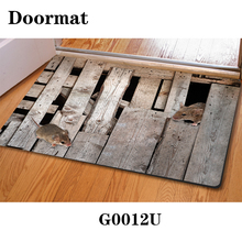 2015 Modern Home Floor Mats 400*600mm 3D Animal House Room Mats Animal Doormats for Bathroom Anti-Slip Printing Outdoor Carpet(China (Mainland))
