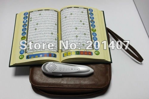 5pcs /lots word by word Tajweed digital quran read reader pen QM8900 4GB  leather bag Quran player