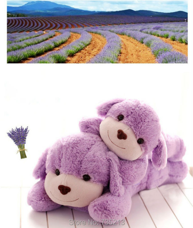 Little of dog doll plush toys purple lavender fragrance lie prone to lie prone hold pillow doll dog(China (Mainland))