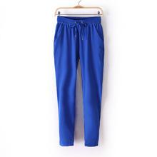 Free shipping 2015 women pants summer new casual pants fashion sexy chiffon elastic waist Rainbow pants