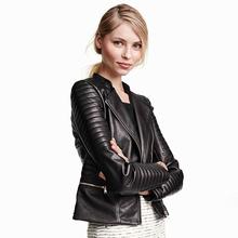Women PU Leather Jacket Plus Size XS-4XL(China (Mainland))