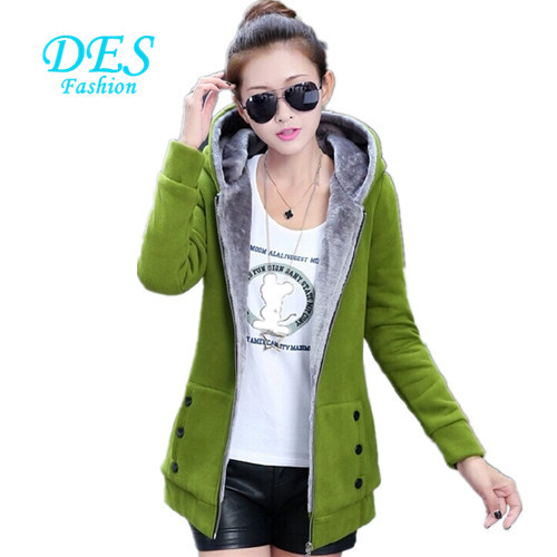 XXXXL Plus Size Autumn Winter Women Casual Cardigan Hoodies Sweatshirts Long Sleeve Hooded Fleece Warm Long Coat Jackets H301G0S(China (Mainland))