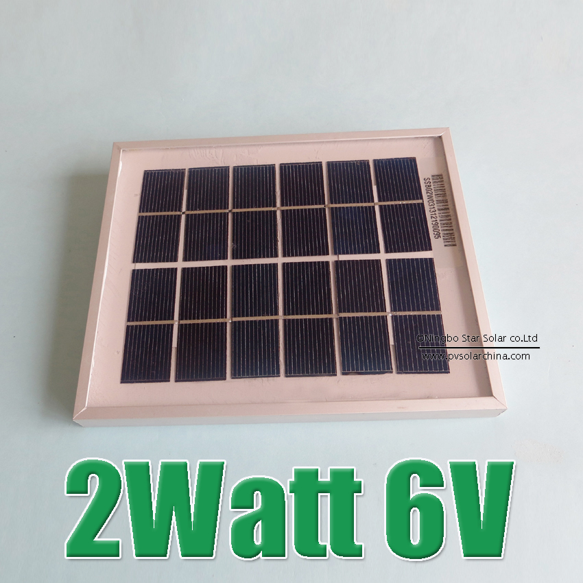 Hot Sale 2W 6V Polycrystalline silicon Solar cell Panel charge(China (Mainland))