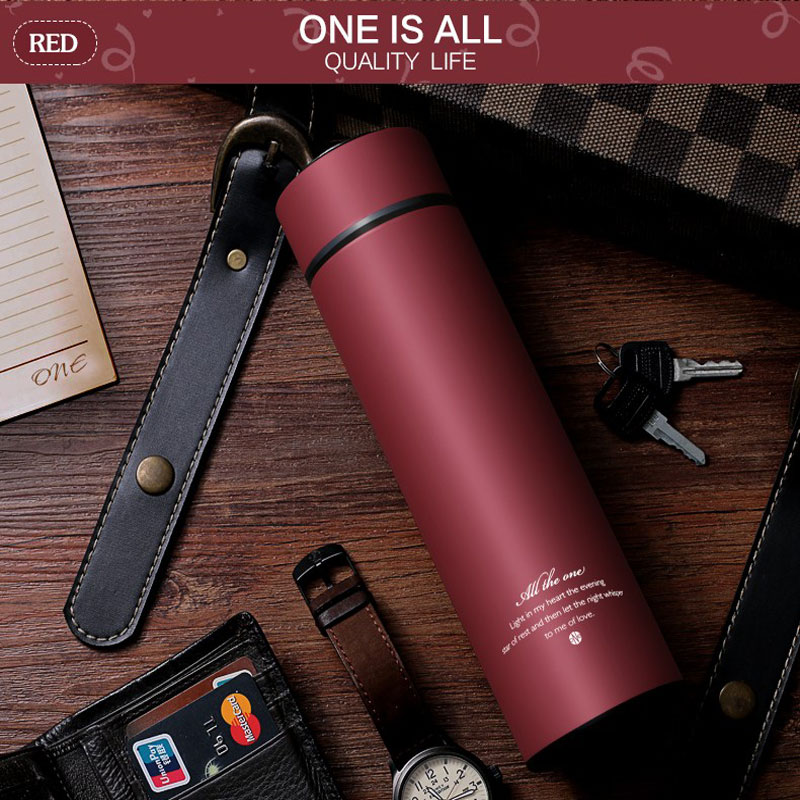 450MLThermos Cup Stainless Steel Thermo Mug With Tea Infuser Insulated Thermos Coffee Mug Termal Cup Auto Car Cups Vacuum Flask