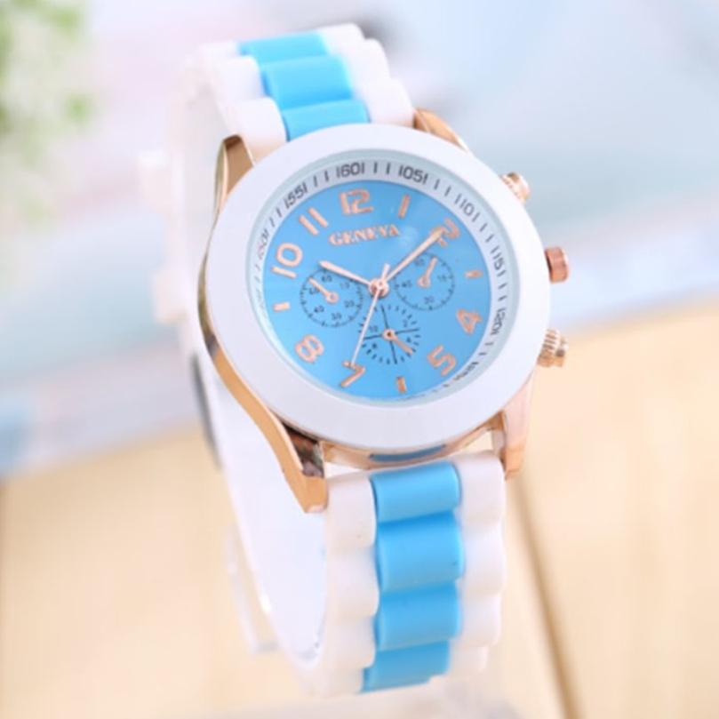 New Design Women Girl Watch Silicone Roman Numerals Quartz Wrist Watches free shipping !<br><br>Aliexpress