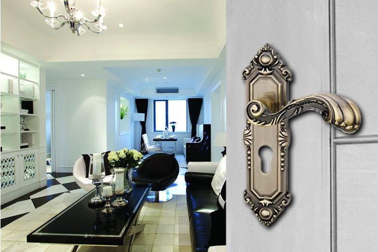 Economic interior room door lock handle(China (Mainland))