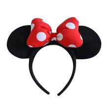 Genuine Brinquedos da disney Minnie Mouse Cocar Cabeça Mickey Minnie Orelhas de Pelúcia Faixas de Cabelo Meninas Princesa Cabeça de Argola Crianças Presente de aniversário(China)