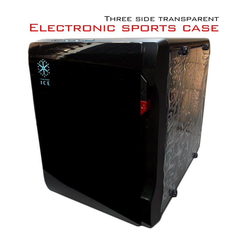E-Sport Desktop PC Case Game Chassis Transparent Side Mini DIY Case USB 3.0 Support Video Card(China (Mainland))