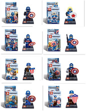 New Arrival SY169 Super Hero Captain America minifigure figure building block toy compatible with lego
