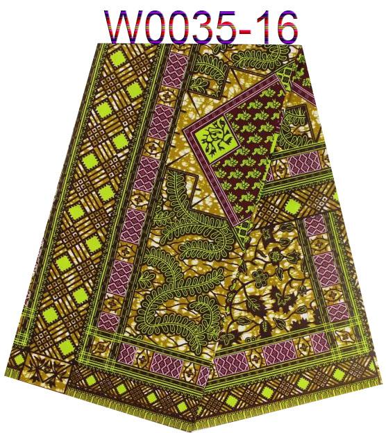 Big quality real hollandais wax prints fabric,on sale African batik fabric,super wax for women dress!    W0035-16