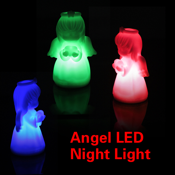 Romantic Colorful LED Villain Lights Angel Night Light Home Bedroom(China (Mainland))