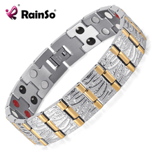 Buy Rainso Jewelry Birthday Gift Men Couple Gold Plating Health Germanium Steel Bio Magnetic Stainless Steel Bracelet OSB-065 for $8.25 in AliExpress store