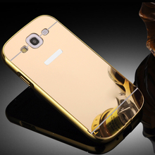 For Samsung S3 Mirror Case Aluminum Frame + Mirror Acrylic Back Cover Case for Samsung Galaxy S3 i9300 Phone Mirror Bumper(China (Mainland))