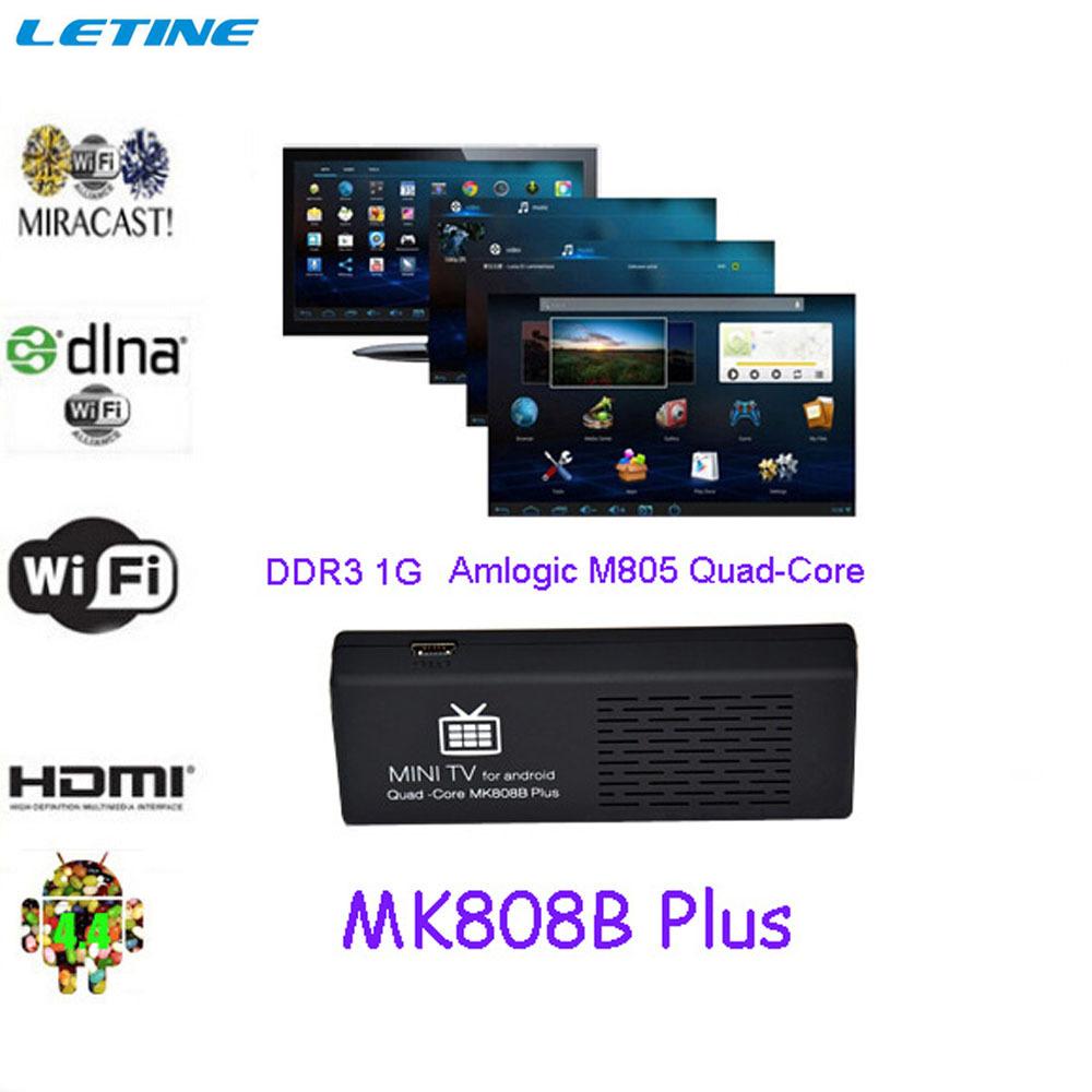 MK808 Mk808B Plus Android 4.4 HDMI TV Stick Tronsmart Dongle Quad Core Amlogic M805 1GB 8GB Mini Pc Wifi Bluetooth Miracast XBMC(China (Mainland))