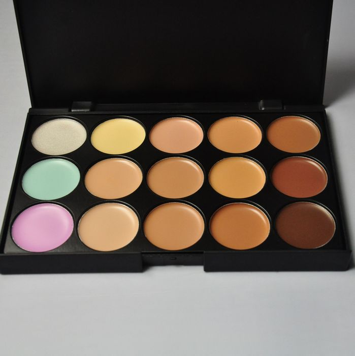 Professional Concealer Facial Neutral Care Camouflage 15 color Nake Glitter eyeshadow Makeup Palette(China (Mainland))