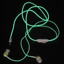 Hot Glow In The Dark Headphones Cool Led Earphone Luminous Neon Headset With Microphone Night Lighting