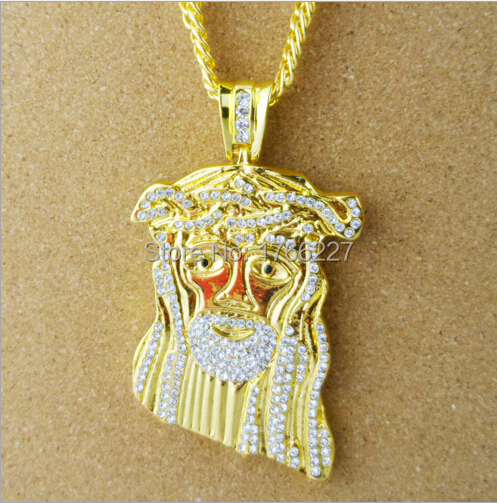 Free shipping Jesus hip hop HIPHOP tide brand jewelry pendant and high quality(China (Mainland))