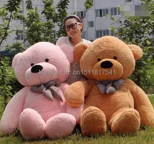 160cm Life Size Doll Plush Large Teddy Bear For Sale Giant Big Soft Toys Teddy Bears Valentines/Christmas Birthday Day Gift(China (Mainland))