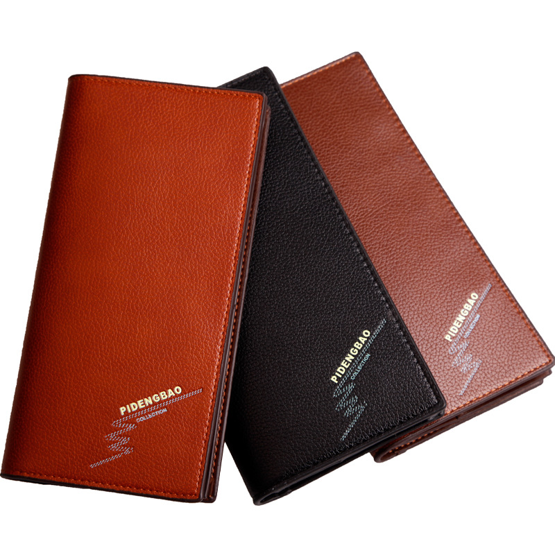 New Men Korean Style Wallets Business Card Holder Bag Long Zipper Man Clutch Leather Purse Money Package Coin Packet Gift Wallet<br><br>Aliexpress